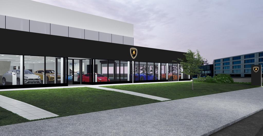 Travux showroom Lamborghini Genève